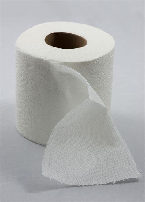 with toilet paper file roll of toilet paper with one sheet folded in