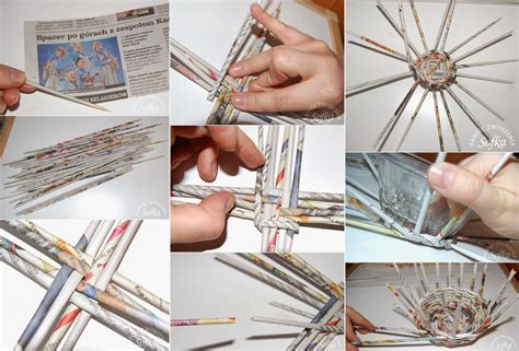 using paper diy wicker basket using newspaper diy craft projects