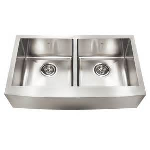 kitchen sinks lowes kindred qdfs31b 20 apron front farmhouse stainless
