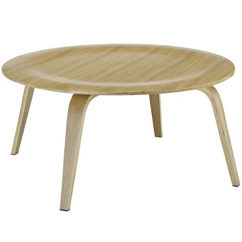 plywood modern wood grain panel coffee table