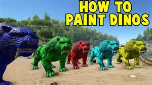 paint colors in ark how to paint your dinos ark survival evolved