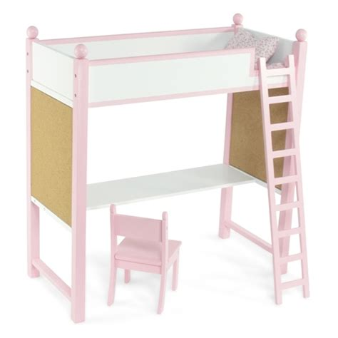 18 inch doll desk 18 inch doll furniture loft bed and desk combo fits