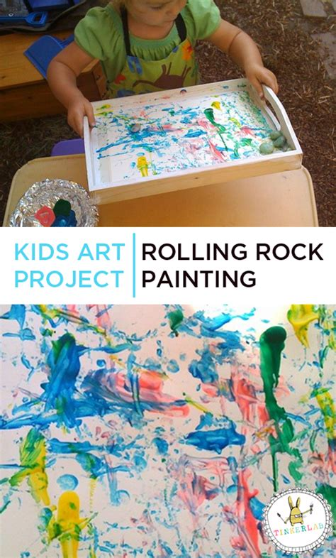 painting crafts for projects rolling rock painting tinkerlab