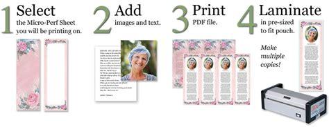 make your own memorial cards free make custom memorial bookmarks lamcraft inc
