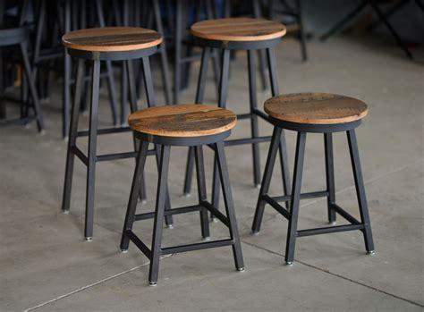 Custom Wood Bar Stools by Buy Made Reclaimed Barnboard Custom Steel Bar
