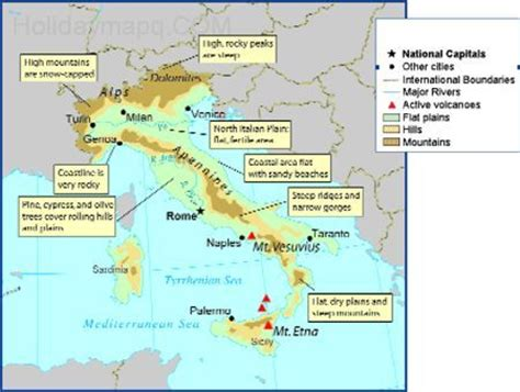map of italy mountain ranges map travel holidaymapq