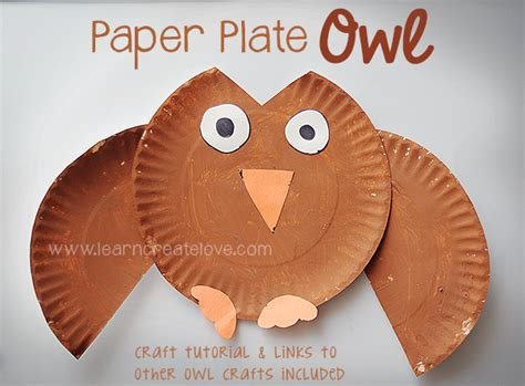 owl paper plate craft paper plate owl craft