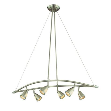 brushed steel chandelier hton bay 6 light brushed steel multi directional