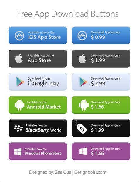 free app free app store market buttons pngs vector
