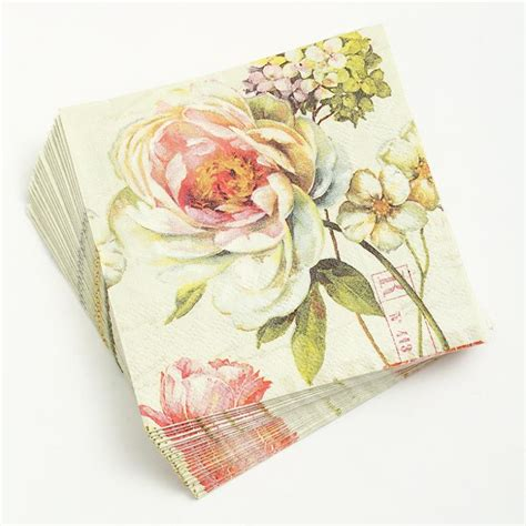 using napkins for decoupage 1 sheet decoupage napkin 25 25cm 3 ply paper serviettes