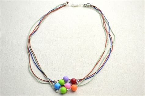 how to make beaded necklace with thread diy necklace ideas how to make a string bead necklace