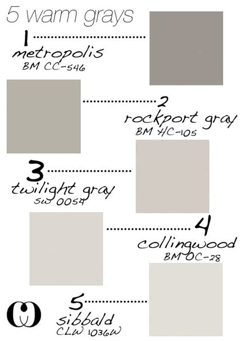 5 Warm Grays Add To That Behr Silver Drop And Glidden