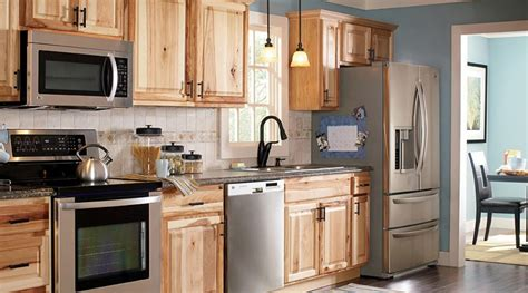 hickory kitchen cabinets hickory cabinet granite countertops brown hairs