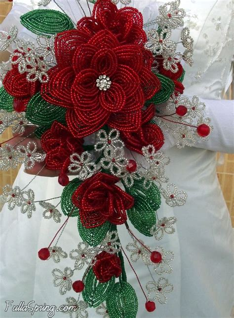 bead of roses beaded flower roses beaded flowers