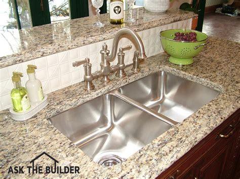 kitchen undermount sink undermount kitchen sinks ask the builder