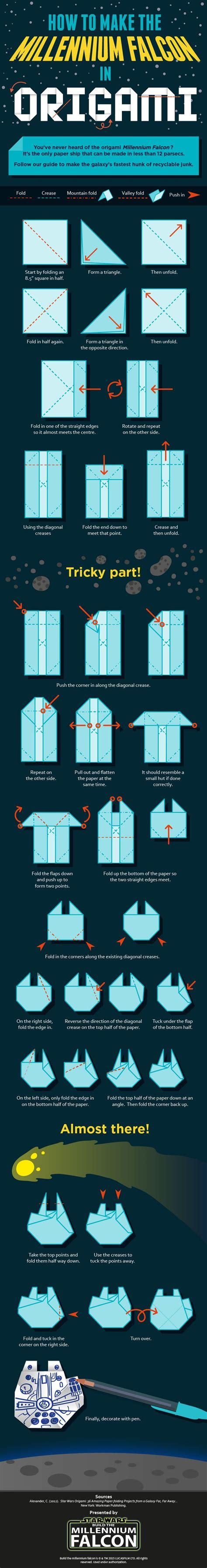 millennium falcon origami comment faire un faucon millenium en origami