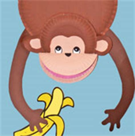 monkey paper plate craft monkey theme crafts and learning activities for
