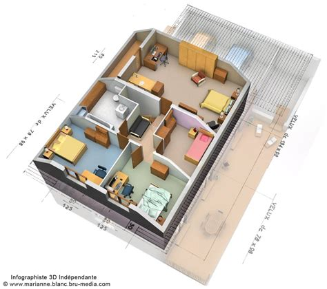 plan 3d maison etage by meryana on deviantart