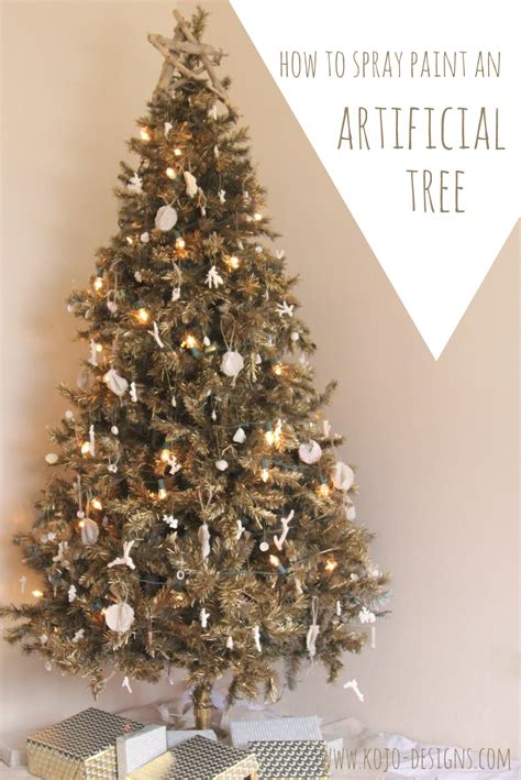 can you spray paint an artificial tree how to spray paint an artificial tree