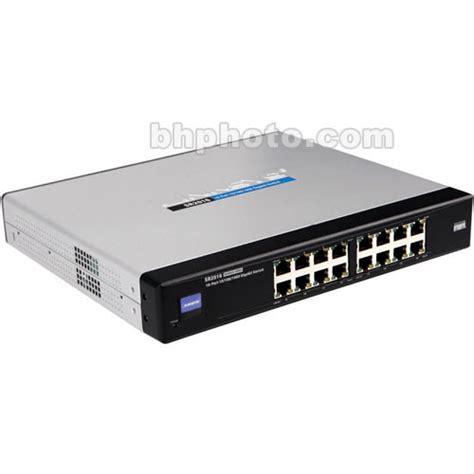 cisco 16 port 10 100 1000 gigabit switch sr2016 b h photo