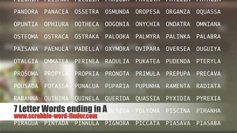scrabble words ending in p 7 letter words ending in a
