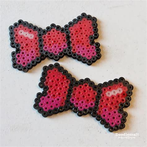 perler bead hair accessories doodlecraft pixel hama bead 8 bit bows