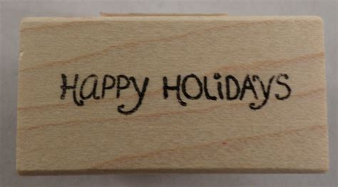 memory box rubber sts memory box happy holidays words writing wooden rubber