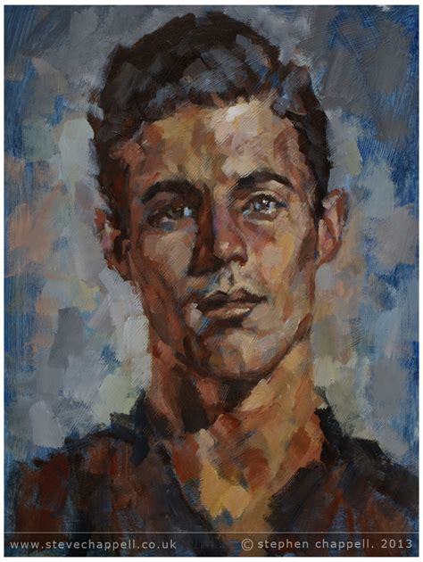acrylic painting portrait stephen chappell paintings 187 study acrylic on mdf board
