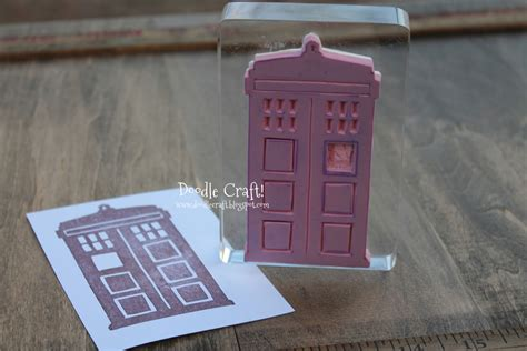 make your own rubber st diy doodles by noodles diy doctor who sts