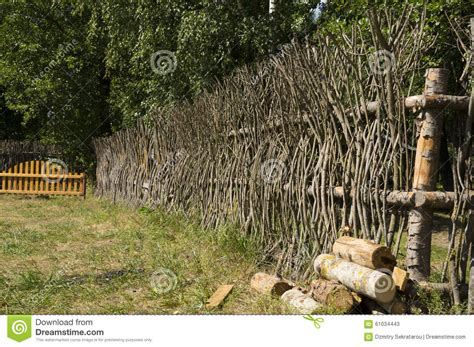 tree made of branches a fence made of tree branches stock image image 61034443