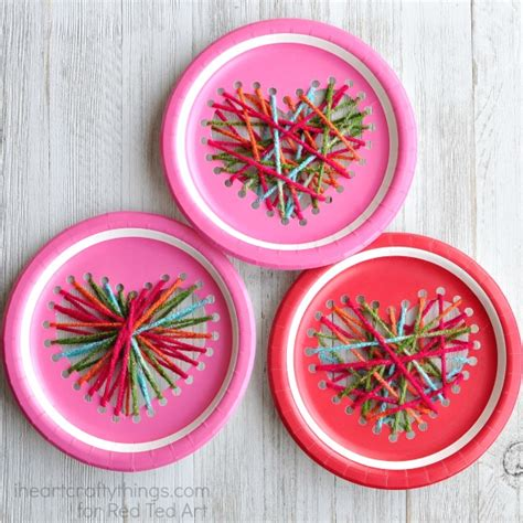 paper plate weaving craft paper plate yarn weaving craft ted s
