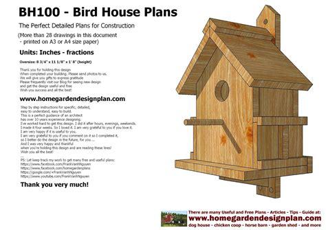 birdhouse woodworking plans pdf diy bird house plans designs bed frame plans