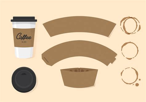 Vector Coffee Sleeve   Download Free Vector Art, Stock Graphics & Images