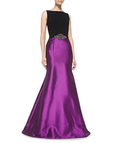 sleeveless beaded mermaid gown theia sleeveless beaded waist mermaid gown