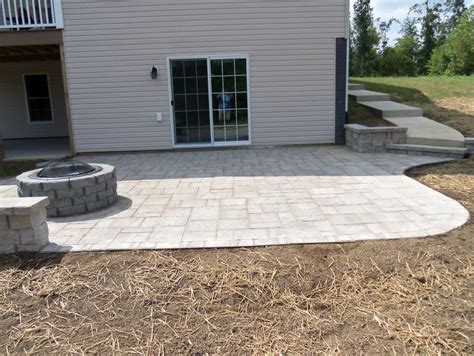 a paver patio how to build a paver patio on a sloped yard home design