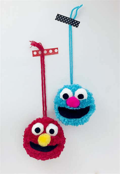 pbs crafts sesame muppet pom pom crafts for pbs parents