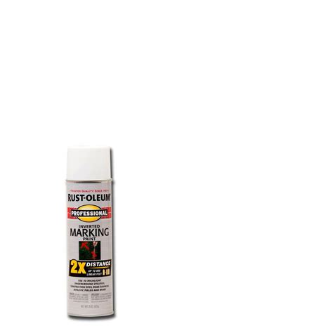home depot rustoleum spray paint colors rust oleum professional 15 oz 2x white marking spray