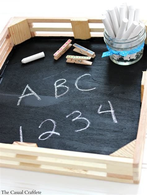 diy chalkboard for toddlers easy diy chalkboard tray