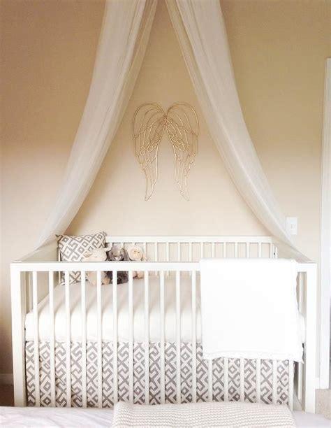 crib canopy bedding nursery gold wings design ideas
