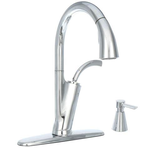 glacier kitchen faucet glacier bay heston single handle pull sprayer kitchen