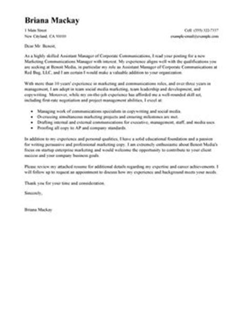 management cover letters my perfect cover letter