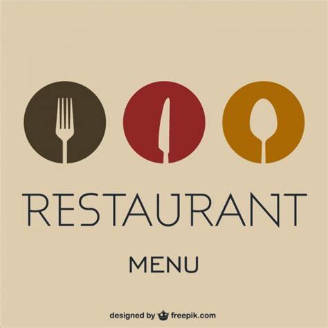 elegant restaurant menu vector free download