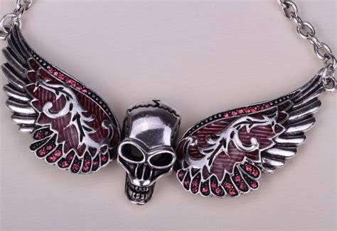 skull for jewelry aliexpress buy wings skull necklace biker