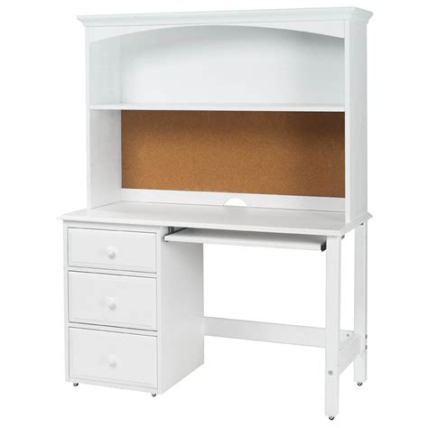 childrens desk with hutch student desk with hutch by maxtrix shown in white