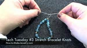 how to make a stretch bracelet with tech tuesday 3 knotting for stretch bracelets