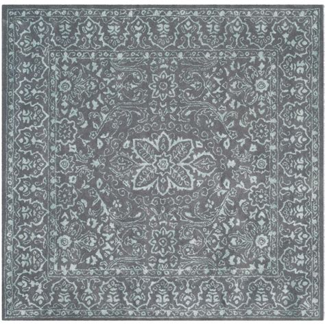 6 square area rug safavieh opal gray 6 ft x 6 ft square area rug