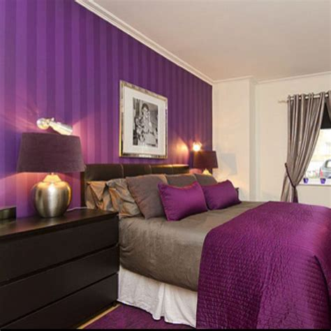 purple bedroom colour schemes modern design i the purple striped wall bedrooms