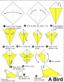 how to make paper animals origami bird origami 171 embroidery origami