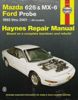 automotive repair manual 1997 ford probe auto manual 1993 2002 mazda 626 mx 6 ford probe haynes repair manual