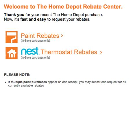 home depot paint rebate form www homedepotrebates how to submit a rebate at home